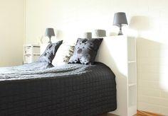 Valoisaa vaaleaa: DIY sängynpääty