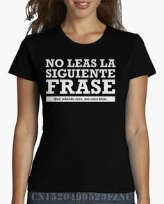 brand clothing Rushed girl t shirt No leas la siguiente <font><b>frase</b></font> Short Novelty Knitted anime Hipster Tees