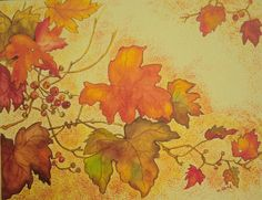 Image gallery for : fall leaves painting