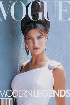 Vogue UK Dec 1988. Stephanie Seymour by Herb Ritts