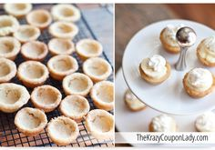 Mini banana cream cookie pies - instead of their recipe, I'd rather make the pudding, cookie dough, and whipped cream from scratch... it'd be way better.
