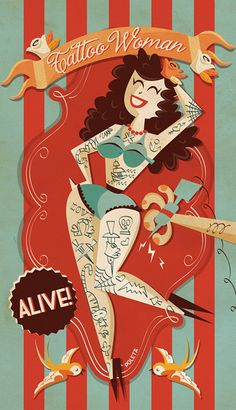 CIRCUS by Poleta Art, via Behance. I would put this in my room.