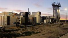 Energia dos esgotos: um novo centro de dados nos Estados Unidos está gerando toda a eletricidade para seus servidores de fontes renováveis, convertendo biogás de uma estação de tratamento de esgoto em eletricidade e água. O projeto foi implementado pela Siemens em parceria com a Microsoft e a FuelCell Energy. Crédito: Siemens