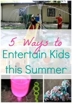 Fight summer boredom with these 5 fun ideas for entertaining your kids! Projects For Kids, Diy For Kids, Crafts For Kids, Summer Diy, Summer Crafts, Summer Ideas, Holiday Crafts, Summer Boredom, Kids Corner