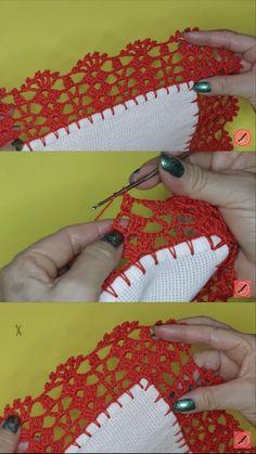 Crochet Boarders, Crochet Decoration, Fringes, Tassels, Diy And Crafts, Crochet Earrings, Lace, Crochet Sunflower, Crochet Edgings