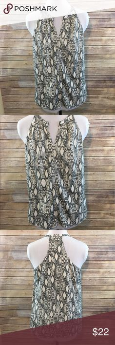 Banana Republic Snakeskin Blouse Small Banana Republic Snakeskin Blouse   Size: Small   Perfect for various occasions. Can be dressed up or down.   Preowned. Smoke and pet free home.  Thank you!! Banana Republic Tops Blouses