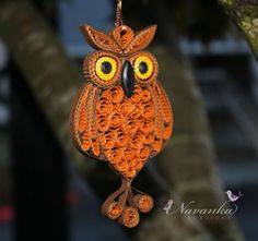 Paper Quilling Owl Ornament in a gift box by NavankaCreations, $24.99