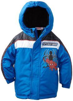 Marvel Boys 2-7 Toddler Spiderman Web Shot Coat, Blue, 2T
