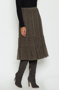 Cyprine Silk Skirt