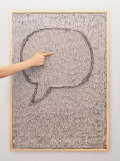 Dedo Message Wall. Artificial fur that you can write messages on. $165.