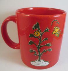 Waechtersbach Christmas Mug Cup Woodstock Charlie Brown Tree Peanuts Excellent