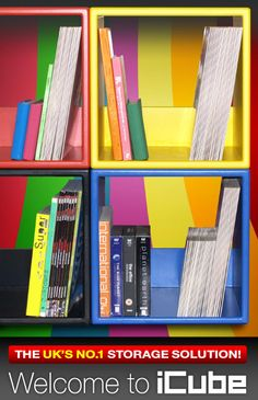 Stack, Store & Display Your Records, CDs, DVDs & More With Our High Quality Range of Modern, Colourful & Stackable Storage Furniture - FREE UK DELIVERY!