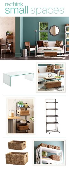 Ways to open up small spaces while concealing clutter simultaneously.