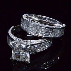 6.67 Ct. Cushion Cut Diamond Engagement Ring with Matching Band - Recently Sold Engagement Rings