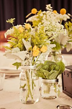 Let's do real flowers for the table tops. yellow and white bouquet #weddingbouquet #whiteandyellowbouquet
