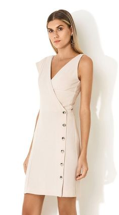 Vestido Com Top Alfaiataria Bege 52 Spring Fashion Every Girl Should Keep Fashion Simple Dresses, Casual Dresses, Short Dresses, Dresses For Work, Summer Dresses, Formal Dresses, Dress Work, Hijab Fashion, Fashion Dresses