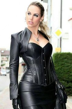 Leather. Sexy Smoking. Long Nails