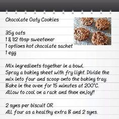 Slimming world cookies