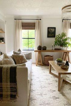 Living Room Interior, Home Living Room, Living Room Designs, Living Room Decor, Living Spaces, Living Room Drapes, Small Living, Living Room Inspiration, Home Decor Inspiration