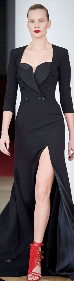Alexis Mabille, Black Magic Woman, Glamour, Types Of Fashion Styles, Couture Fashion, Evening Gowns, Beautiful Dresses, Peplum Dress, Ready To Wear