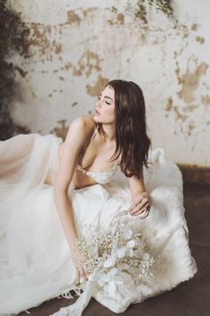 Timeless and Elegant Bridal Boudoir Session Highlights Feminine Beauty With Delicate Lace Ensembles - Once Wed #bridalboudoir #lacebridalboudoir #bridalsession