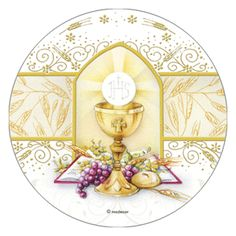 caliz y hostia primera comunion vector - Buscar con Google First Holy Communion Cake, First Communion Cards, Holy Communion Invitations, Première Communion, Religious Pictures, Bible Pictures, Baptism Banner, Baptism Cookies, Christian Cards
