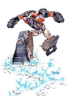 Crasher_earth-quake-attack by ~a-loft-on-cybertron on deviantART