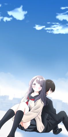 Couple Wallpaper, Anime Scenery Wallpaper, Girl Wallpaper, Beautiful Wallpaper, Pretty Wallpapers, Cute Anime Pics, Cute Anime Couples, Walpaper One Piece, Wallaper Iphone