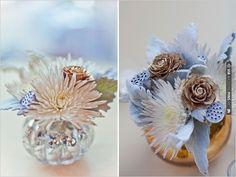 metallic flower arrangement   CHECK OUT MORE IDEAS AT WEDDINGPINS.NET   #weddings #weddingflowers #flowers