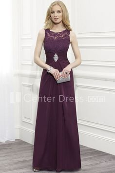 $131.19-Country Sheath Scoop Neck Ruched Sleeveless Lace Purple Long Mother of the Groom Dress. http://www.ucenterdress.com/sheath-scoop-neck-ruched-sleeveless-lace-formal-dress-pMK_300196.html.  Tailor Made mother of the groom dress/ mother of the brides dress at #UcenterDress. We offer a amazing collection of 800+ Mother of the Groom dresses so you can look your best on your daughter's or son's special day. Low Prices, Free Shipping. #motherdress