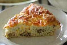 Italian Sausage & Cheese Crustless Quiche 5 pts
