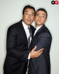 JUSTIN TIMBERLAKE And JIMMY FALLON Enjoy Some Playful Guy-On-Guy Action On GQ Cover