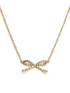 bow necklace. baublebar.com