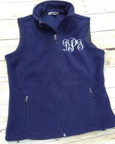 Monogrammed Vest | Monogram Fleece Vest | Northface Style Monogram Vest | Monogram Apparel | Monogram Sweatshirt | Personalized Gifts Lexington Kentucky