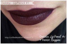 Su un filo di eyeliner ~ Make up & Beauty Blog : Swatch e Prim(issim)e Impressioni: Debby - LipPencil #1