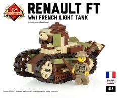 Brickmania - Renault FT - French Light Tank, $100.00 (http://www.brickmania.com/renault-ft-french-light-tank/)