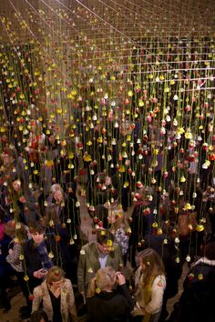 Floral installation by Rebecca Louise Law at the Garden Museum in London