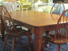 Bob Timberlake Lexington Cherry Dining Room Table 4 Windsor Chairs 833 774  898 Part 52