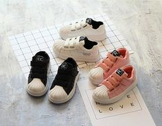 Leather kid casual shoes sneakers sport unisex shoes velcro