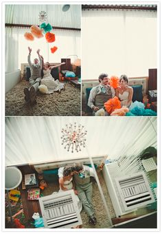 San Diego Vintage Motel Wedding - San Diego vintage motel wedding Theme-  We can't get enough of the colorful, crafty, and fun vintage inspired hodgepodge spin to it!