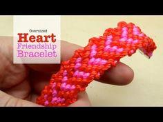 ▶ DIY Valentine Heart Friendship Bracelet Tutorial - YouTube