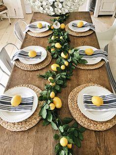 Summer Lemon Dining Room