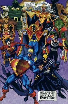 Truth is, as much as I enjoyed the old miniseries in the 90s about Amalgam, I'd love to write my own series of Marvel/DC mash up characters.  Believe it or not, I already made plenty(I have a ridiculous amount of free time or something)!!!