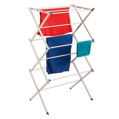 The Honey-Can-Do Compact Folding Drying Rack features a strong and sturdy design that easily holds your damp laundry. The sleek, white drying rack offers over 20 feet of drying space and folds down for easy storage. Buy Honey, Steel Frame Construction, Outdoor Chairs, Outdoor Decor, Laundry Hamper, Laundry Storage, Clothes Line, Folding Chair, Joss And Main