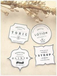 Customize Your Handmade Soaps, Lotions and Potions with Free Printable Labels - also handing for labeling crafts and craft tables and fairs and shows.