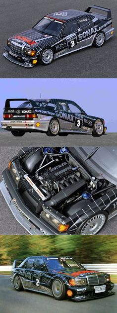 1992 Mercedes-Benz 190E 2.5-16 Evolution 2 / DTM winner / Klaus Ludwig / Germany / no.3 / black silver
