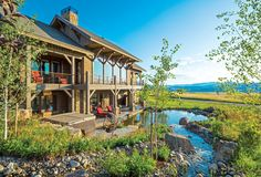Create Picture, Timber Frame Homes, Mountain Living, Log Cabin Homes, Above And Beyond, Modern Rustic, Curb Appeal, Modern Design, Exterior