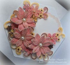 Quilling flowers made by Kasia