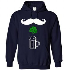 mustache shamrock beer - #gift wrapping #money gift. WANT THIS => https://www.sunfrog.com/St-Patricks/mustache-shamrock-beer-4177-NavyBlue-22178488-Hoodie.html?68278