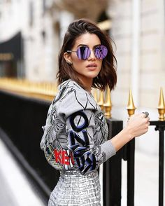 Top: tumblr sweatshirt grey sweater kenzo sunglasses mirrored sunglasses round sunglasses skirt